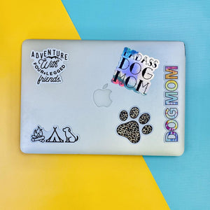 Dog Mom Tie Dye Vinyl Sticker