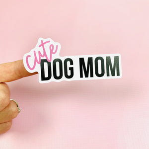 Cute Dog Mom Vinyl Sticker