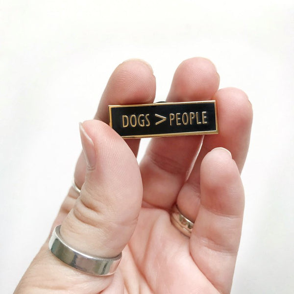 Dogs > People Enamel Pin