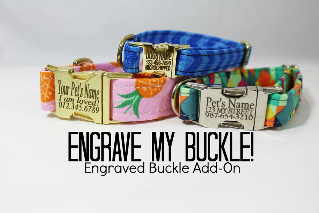 Engrave My Metal Buckle - Dog Collar ADD ON