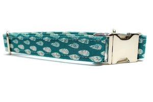 Blue and White Drops Dog Collar
