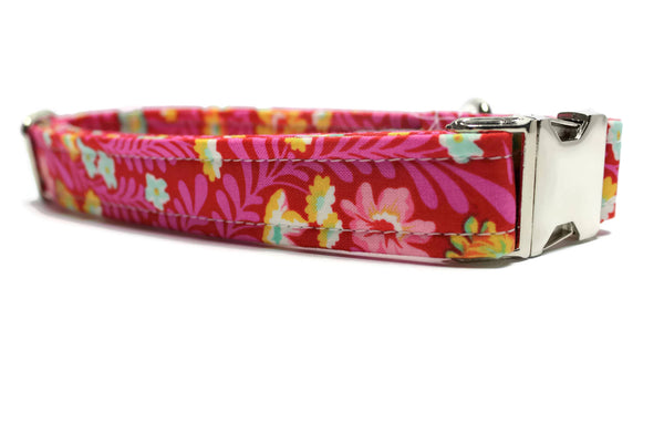 Tropical Floral Dog Collar
