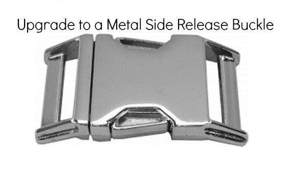 "Upgrade to Metal (Silver/Nickel Plated) Hardware (5/8"", 3/4"" and 1"" width collars)"