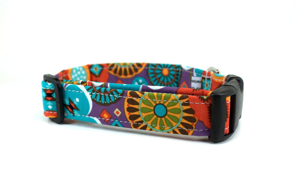 Aztec Floral Dog Collar