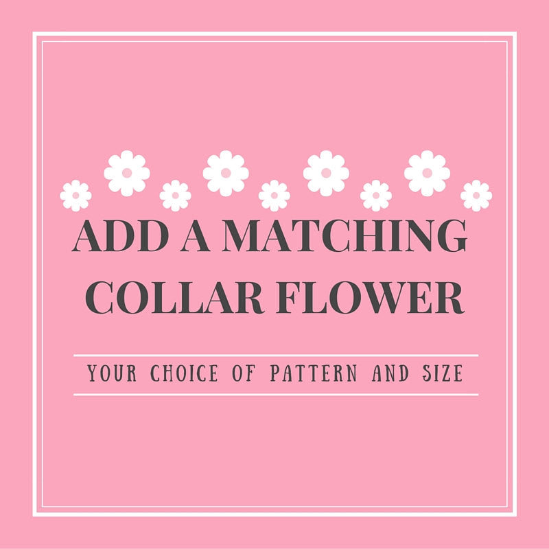 Add a Matching Removable Collar Flower