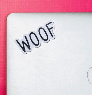 Woof Vinyl Sticker