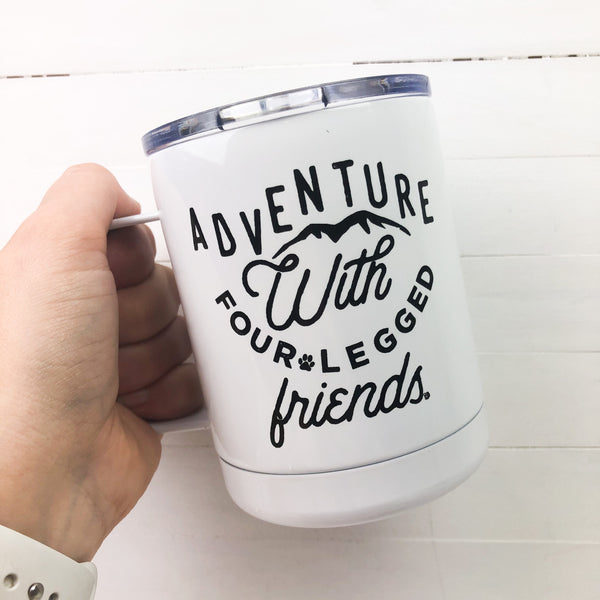 Adventure with Four Legged Friends Tumbler Mug with Lid