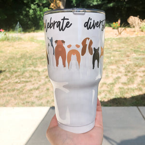 Celebrate Diversity 30oz Stainless Tumbler (with lid and straw)
