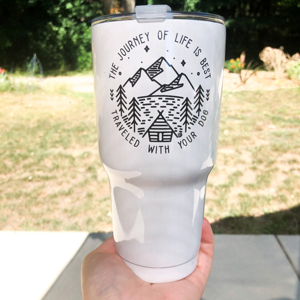 The Journey of Life 30oz Stainless Tumbler (with lid and straw)
