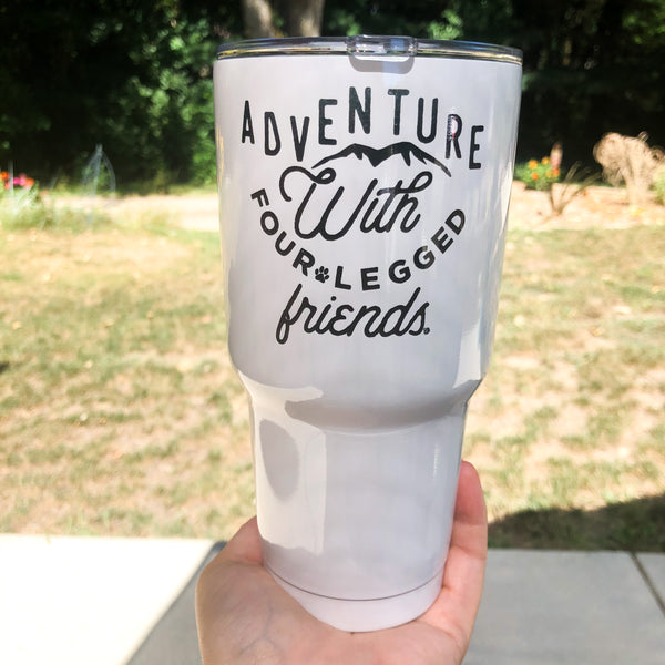 Adventure with Four Legged Friends 30oz Stainless Tumbler (with lid and straw)
