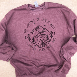 The Journey of Life Sweatshirt (Vintage Maroon) - ready to ship