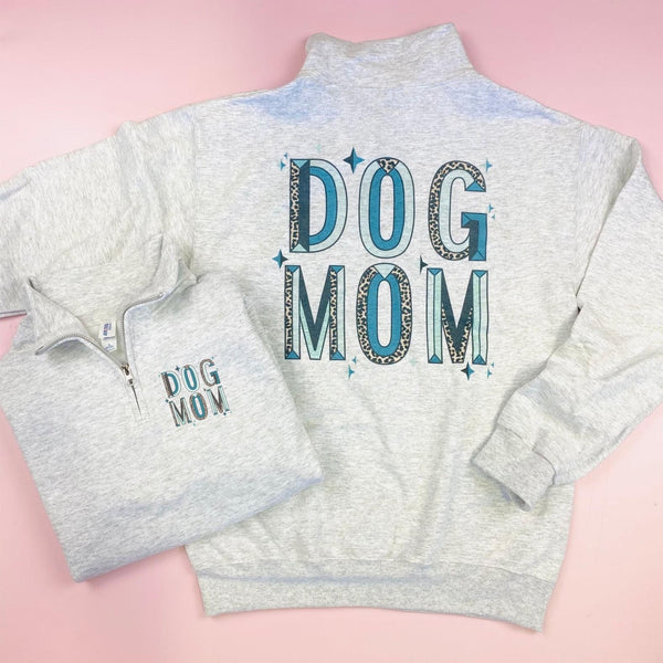 Sparkle Dog Mom Quarter Zip Sweatshirt