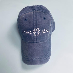 Navy Summer Vibes Embroidered Hat