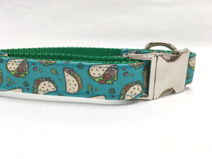 Blue Taco Canvas Dog Collar