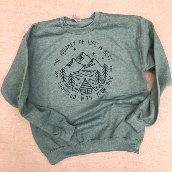 The Journey of Life Sweatshirt (Vintage Forest Green) - ready to ship