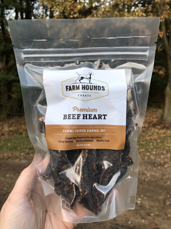 Beef Heart Treats by Farm Hounds