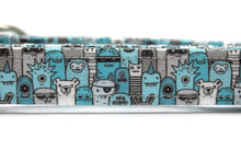 Blue Monsters Dog Collar