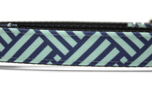 Navy Weave Canvas Dog Collar