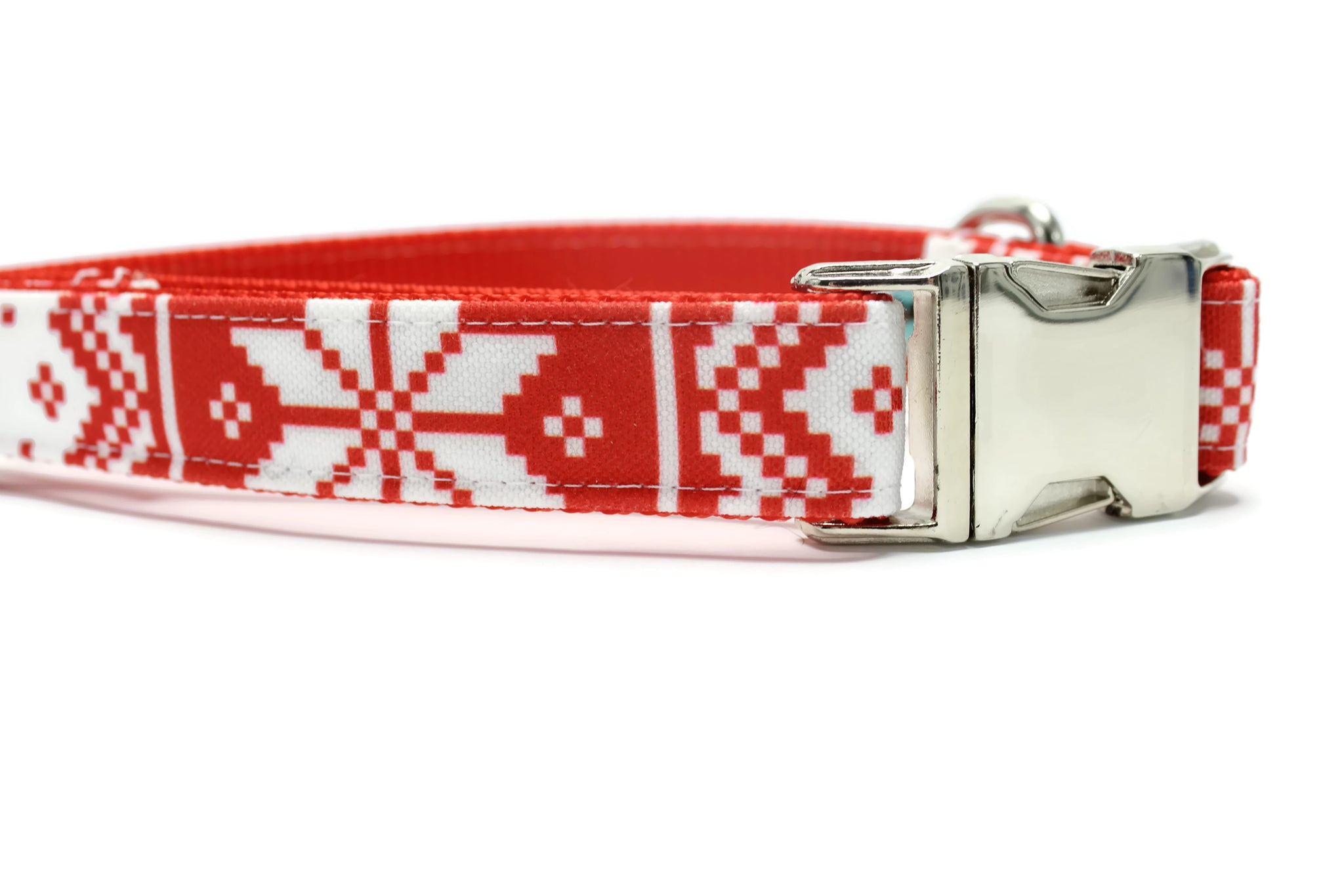 Nordic Stripe Canvas Dog Collar