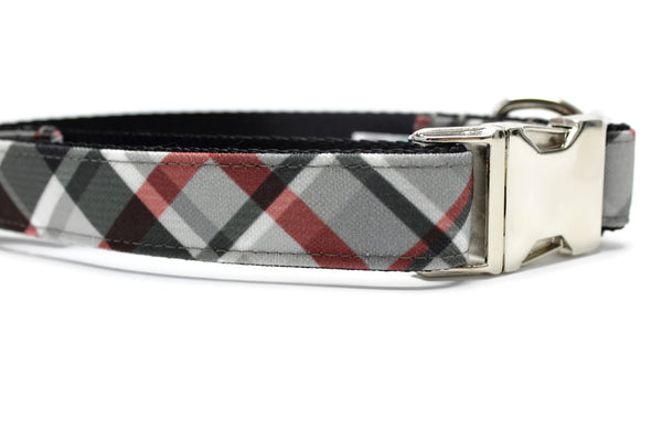 Harley Plaid Canvas Dog Collar