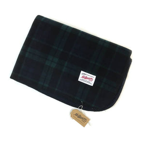 Black Watch Plaid Sherpa Fleece Blanket
