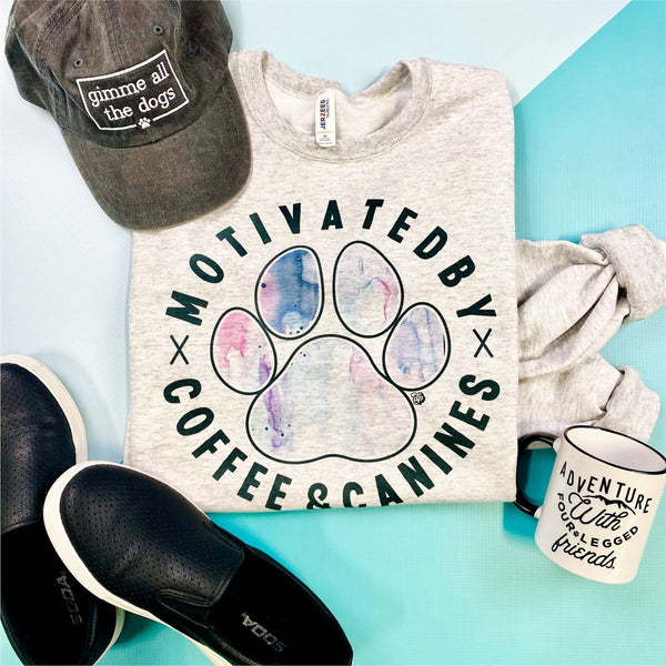 Motivated by Coffee & Canines Sweatshirt