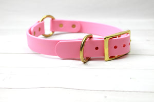 O-Ring Biothane Dog Collar - Choice of color and width