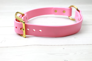Safety O-Ring Biothane Dog Collar - Choice of color and width
