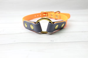 Multicolored O-Ring Biothane Dog Collar - Choice of color and width