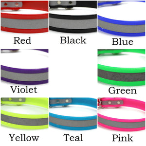 Reflective Biothane Dog Lead - Your choice of color and width