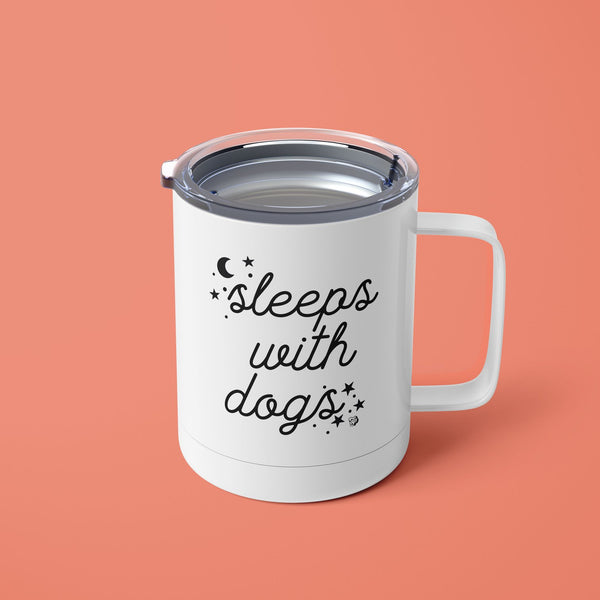Sleeps with Dogs Tumbler Mug with Lid