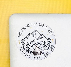 The Journey of Life Vinyl Sticker