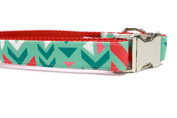Winter Arrows Canvas Dog Collar