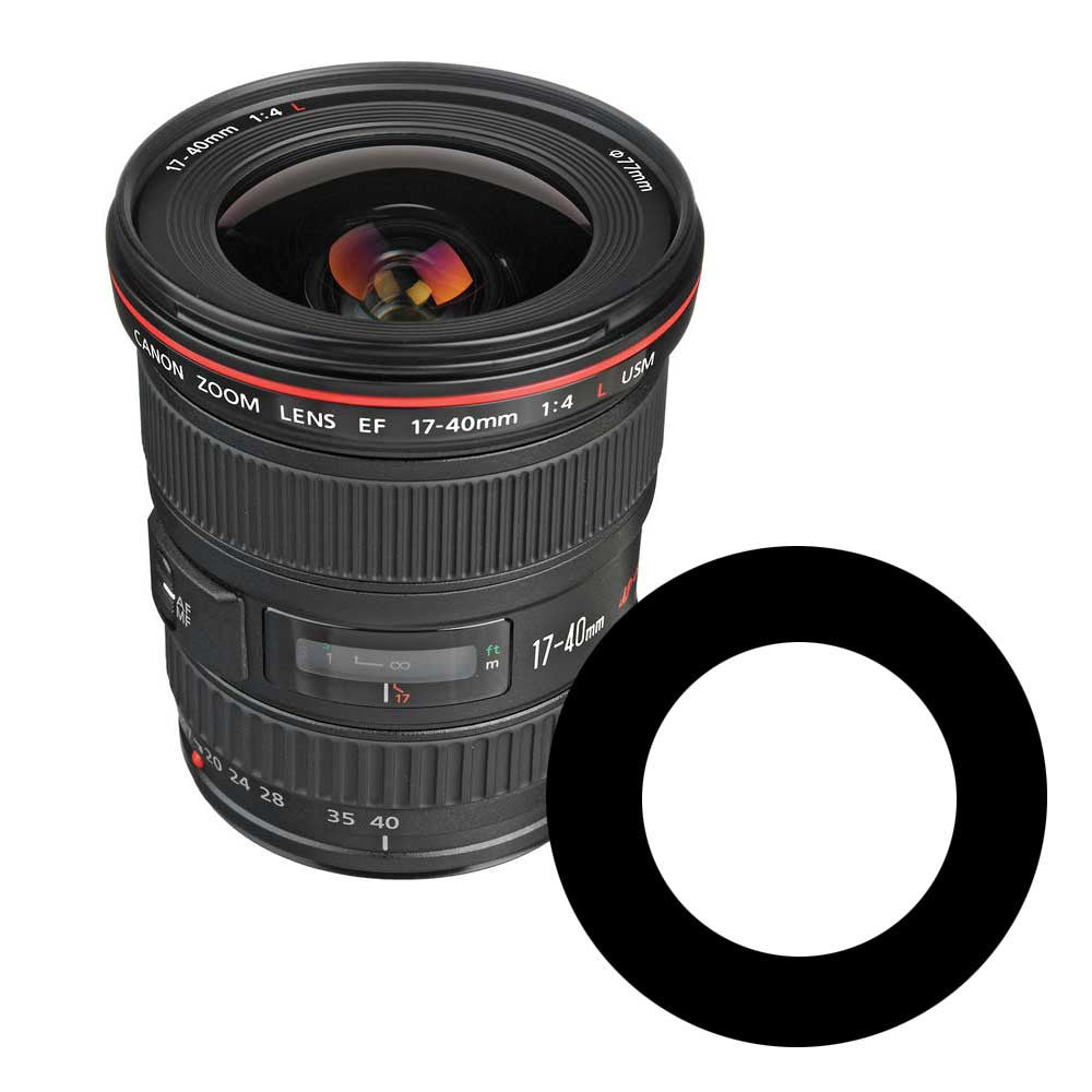 Ikelite Anti-Reflection Ring for Canon 17-40mm f/4 USM Lens - 0923.02