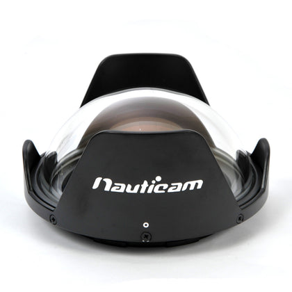 Nauticam N120 140mm Optical Glass Fisheye Port with removable shade - 18811 - Sea Tech Ltd