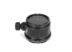 Nauticam N85 Macro Port 45 with Focus/Zoom Knob for Sony E mount 30mm f/3.5 Macro & Sony E mount PZ 16-50mm F3.5-5.6 OSS Power Zoom - 36128