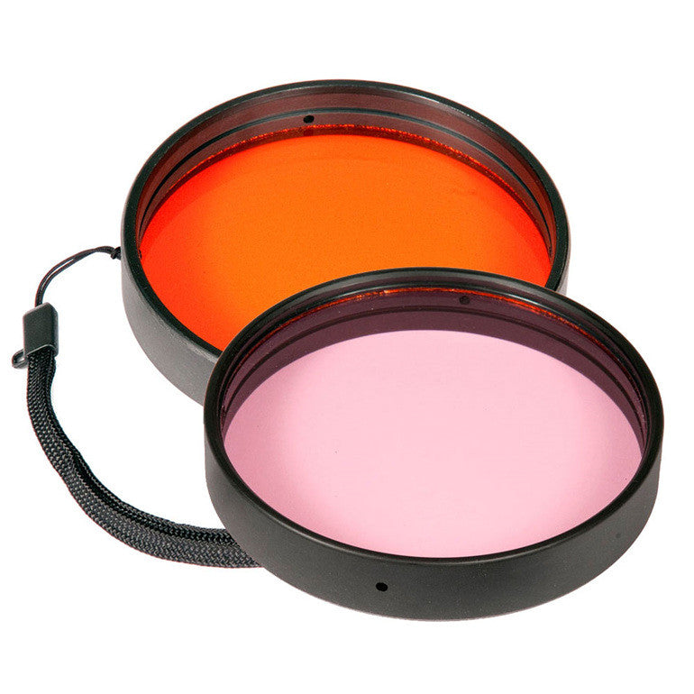 Ikelite Color Correcting Filters for green & blue water - 2.2 in, 3 in, 3.6 in, 3.9 in, 4.2 in & DSLR flat port