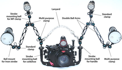 Nauticam Double Ball Arms - Sea Tech Ltd