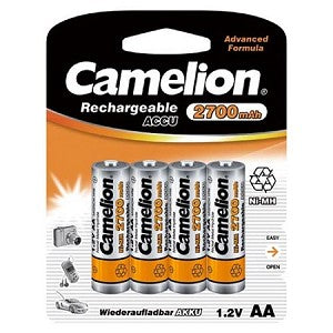 Camelion AA NiMH Rechargable Batteries 2700mAh