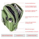 UNIVERSAL TACTICAL OUTDOOR CAMPING WAIST BAG WITH MOBILE PHONE POUCH