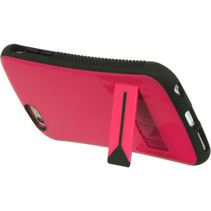 IPhone 6/6s plus hybrid case with stand hot pink