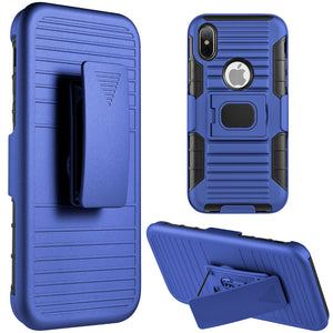 FOR IPHONE XS / X MAG-DEFENDER HYBRID HOSLTER COMBO CASE WITH MAGNET STAND