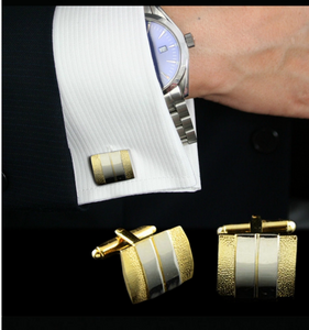 dacolria shopping boutique cuff link is two tone with a antique look