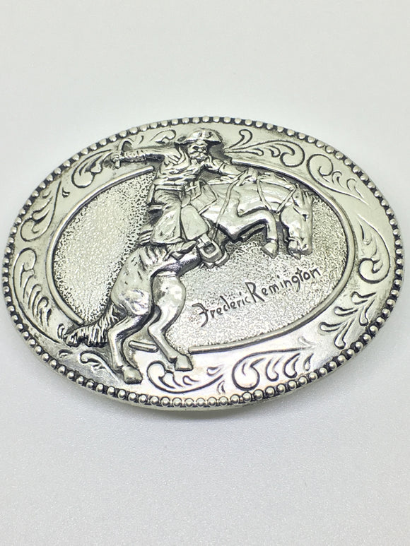 The Broncho Buster Belt Buckle from the Frederic Remington Art Museum Collection