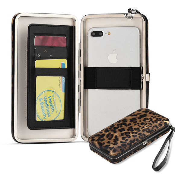Universal stylish vera phone wallet case with strap