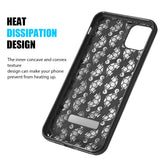 3D Embossed Printed PhoneHybrid Case for IPhone 11 Pro -Skull