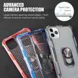 HYBRID CASE W/HEAVY DUTY PROTECTION AND ATTACHED MAGNET ROTATABLE RING STAND FOR IPHONE 11 PRO
