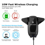 AIR VENT MOTORIZED CAR WIRELESS CHARGER MOUNT W/10W QI CERTIFIED FAST CHARGER
