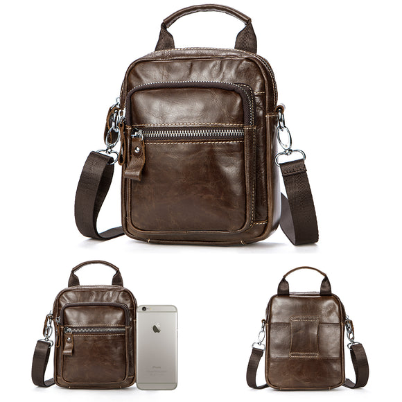 PREMIUM LEATHER CROSSBODY BAG SHOULDER MESSENGER BAG FOR MEN