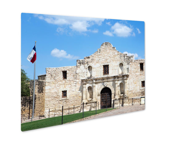 Metal Panel Print, Entrance To Alamo In San Antonio Texas Us